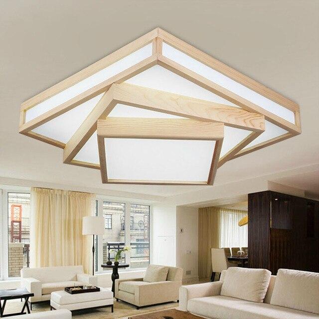 Moderne creatieve EIKEN eetkamer LED plafondverlichting armatuur DIY ...