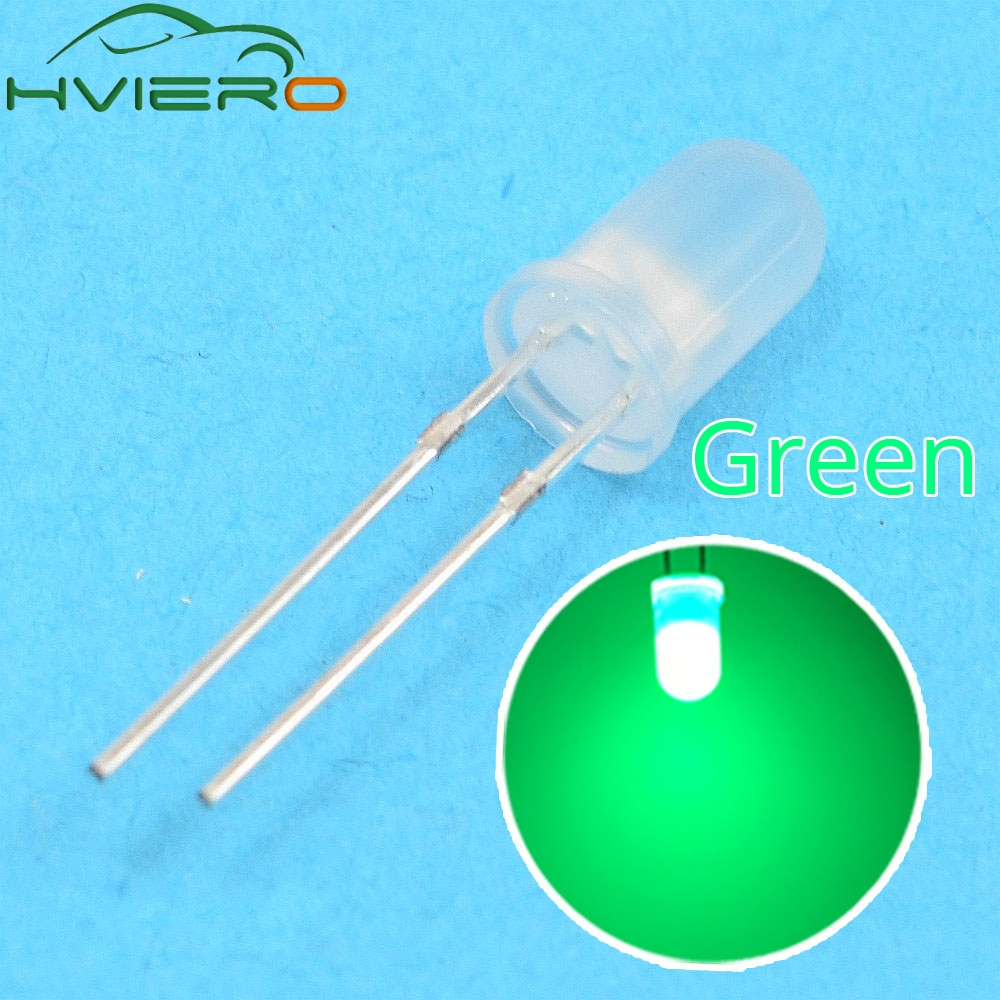 100pcs 5mm LED Diffused Red 2pin Round Top Emitting Diode Lights