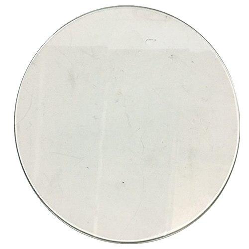 Plaque de construction en verre Borosilicate pour imprimante 3D ronde 500mm x 4mm lit en verre pour Kossel Delta Rostock cercle d'imprimante 3D (500x4mm rond)