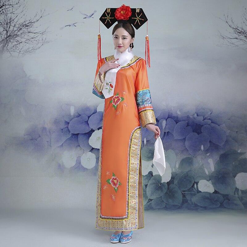 5 couleurs nouvelle broderie fille Qing dynastie princesse Costume femmes Hanfu ancienne robe de cour pour cosplay scène performance