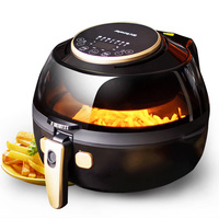 220V 5L Household Electric Air Fryer Automatic Oil Free Multifunctional Intelligent Electric Fryer With Visible Window EU/AU/UK