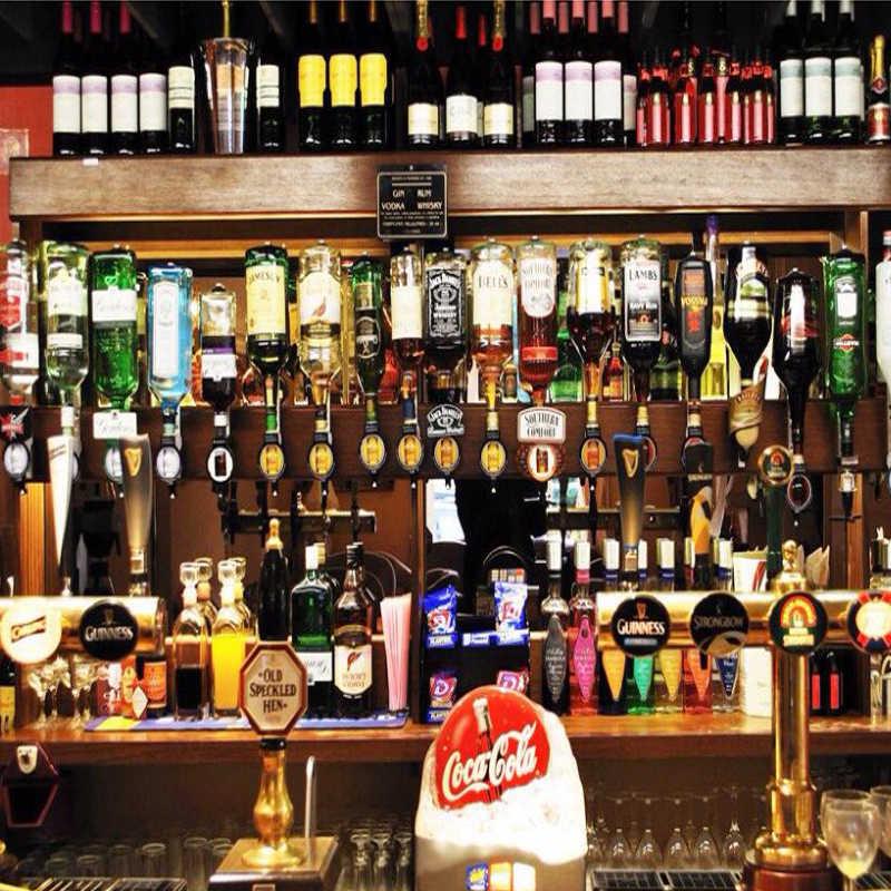 人格カスタマイズレストランクラブ KTV バーの装飾壁紙 3D ワインボトル壁画ヨーロッパスタイルヴィンテージウォールペーパー