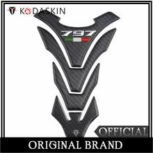 KODASKIN carbono Real tanque etiqueta engomada emblema para Ducati Hypermotard 939