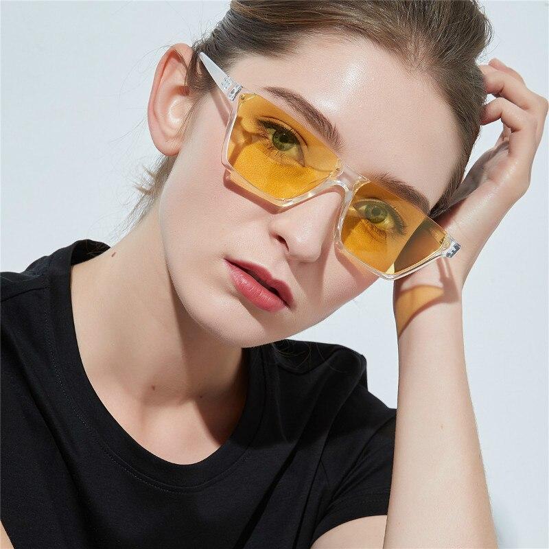 Fashion Trendy Half Frame Rimless CatEye Women Sunglasses