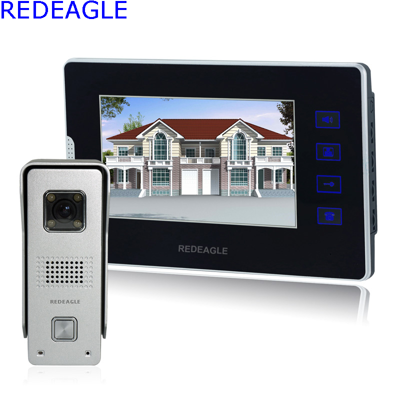 REDEAGLE Home 7 inch touch Key Screen Video door phone Intercom Entry System 700TVL Metal Night Vision Camera exported quality screen printing frame 7 5x10 inch 19x25cm wholesale price door to door