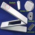 2014New Folding Led Eye-Proteção Abajur, Ajustável Portátil Mini Livro de Leitura Leve com Relógio, Tempo de Exibição