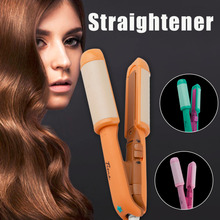 Promo offer Mini Portable Electric Hair Sticks Hair Straightener Hair Perm Pull Straight Board Curler & Straightener durable & Pop  Top Sale