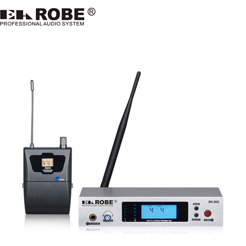 EAROBE BK-600 UHF stereo wireless in ear monitor system Simultaneous Interpretation Stage Performance ukingmei uk 2050 wireless in ear monitor system sr 2050 iem personal in ear stage monitoring 2 transmitter 2 receivers