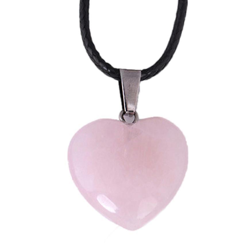 OTOKY Necklace Rainbow Stone Natural Crystal Chakra Rock Necklace Beauty Alloy Quartz Pendant necklace Droshipping Dec21