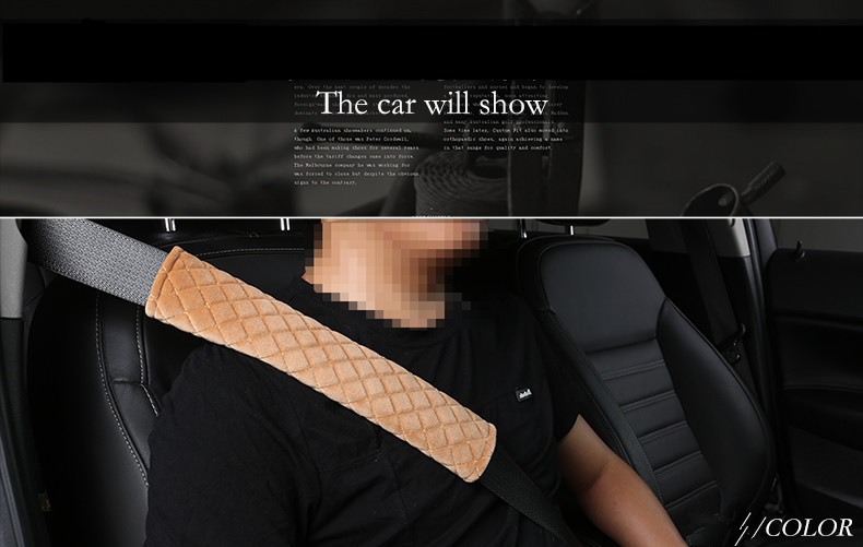 New 30cm Car Seat Belt Cover Safety Shoulder Pad Car Soft Strap Protection Cover Safety Belt for all cars