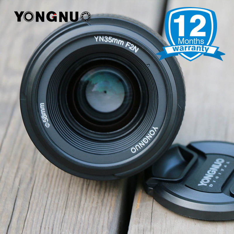 YONGNUO YN35mm 1:2 F2.0 AF/MF Lens for Nikon F Mount DSLR Cameras Wide-Angle Fixed/Prime Auto Focus for Nikon D5300 D7100 D750