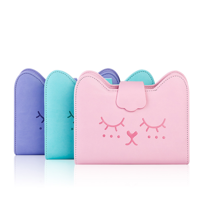 Cute lovely women girl notepad writing pads Korean leather notebook A6 diary  6 rings school office supplies planner gift - imall.com b8e3f3a39