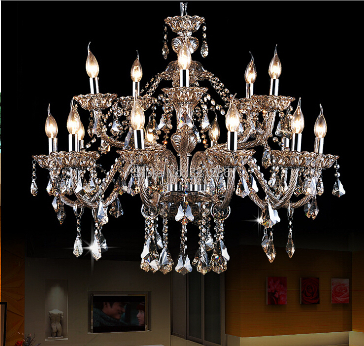 Large Crystal Chandeliers Living Room Modern 15 Arm Large Chandelier Crystal