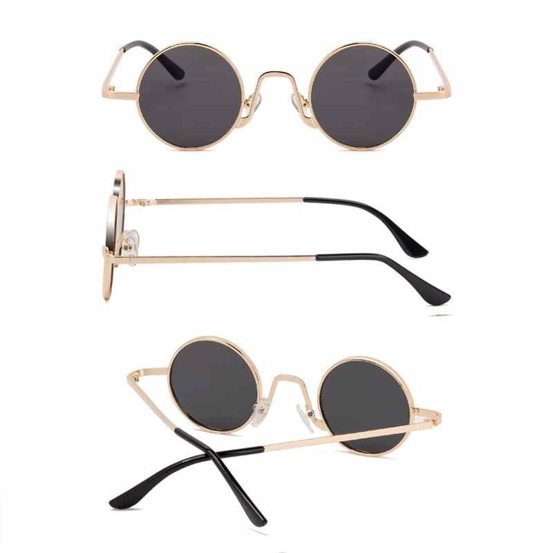 SPLOV Vintage Rap แว่นตากันแดดผู้ชายผู้หญิง Punk สไตล์ Hip - Hop โลหะขนาดเล็กกรอบแว่นตา Retro Gafas De Sol กรณี