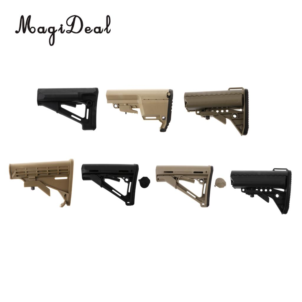 MagiDeal Defense Tactical Light Weight & Collapsible Polymer Buttstock - STR / MFT / VLTOR / ARMY / CTR