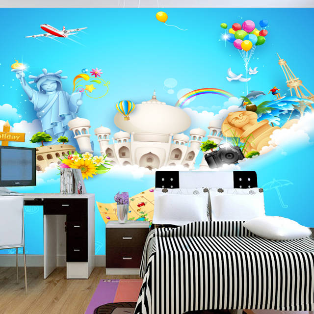 Use Childen S Room Wallpaper To Add Oodles Of Character: A Large Children's Room Mural Wallpaper Kids Real Eco