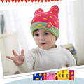 Cute Baby Boys Girls Five-Pointed Star Stripes Knit Hat Winter Warm Beanie