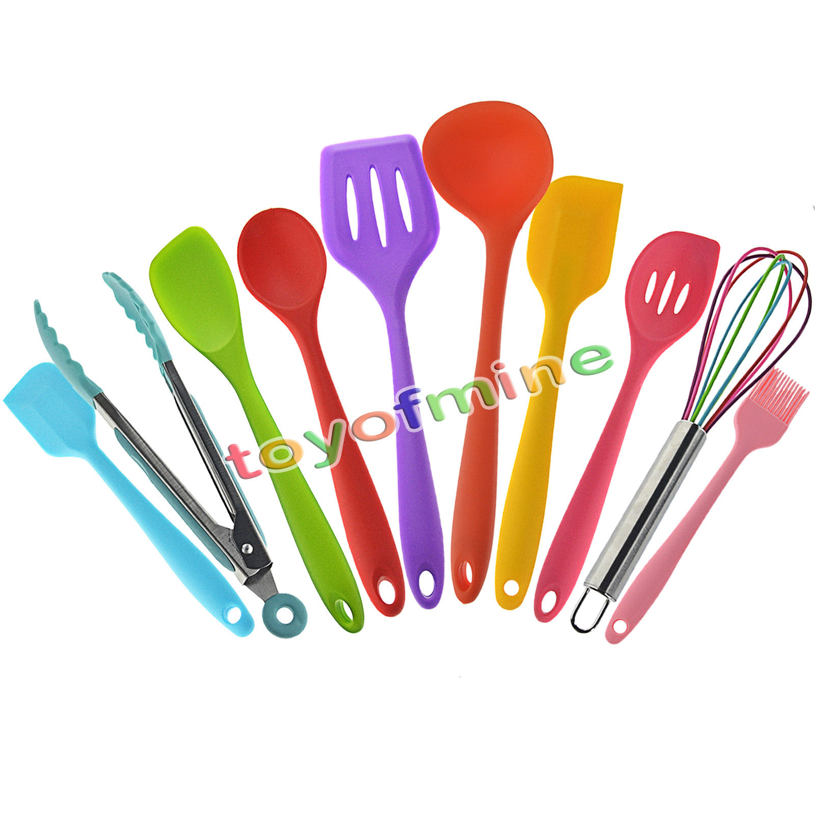 10pcs Utensils Heat Resistant Cooking Utensil Set Non Stick Silicone Kitchen Utensil Set High