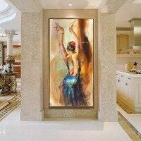 Обои ручной росписи сексуальные голые девушки китайские сексуальные девушки обнаженные женщины Картина Маслом Горячие Танцы Девушка ориг