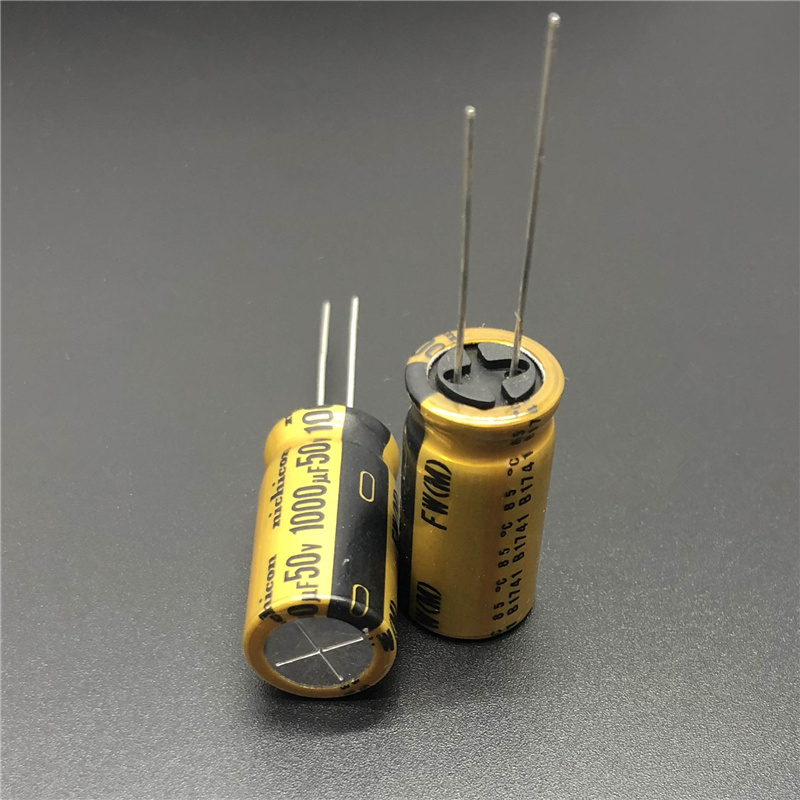 5pcs/20pcs <font><b>1000uF</b></font> <font><b>50V</b></font> NICHICON FW Series 12.5x25mm 50V1000uF HiFi Audio Capacitor image