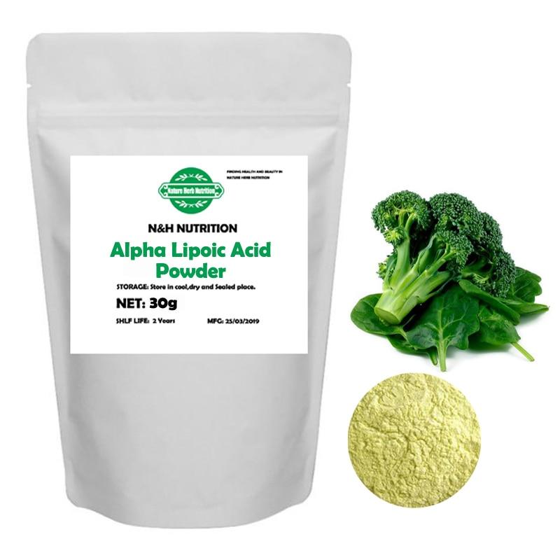 Pure 100% Alpha Lipoic Acid/ ALA Powder Universal Antioxidant & Anti-aging Cosmetic/Dietary Supplement Whitening Skin Face Body