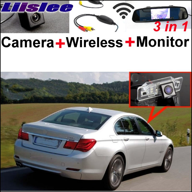Liislee Special WiFi Rear View Camera + Wireless Receiver + Mirror Monitor Easy Parking System For BMW 7 E38 E65 E66 E67 E68 wireless pager system 433 92mhz wireless restaurant table buzzer with monitor and watch receiver 3 display 42 call button