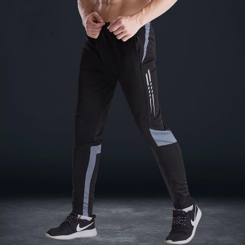 Men With Pocket Soccer Training Pants Football Trousers Mens Joggers Jogging Gym Running Workout Sport Pants Skinny Sweatpants