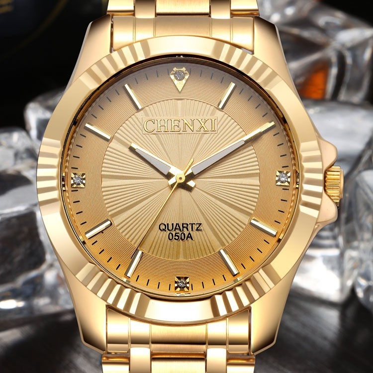 Man Watch 2018 Top Brand Chenxi Watch Luxury Men Waches Gold Watches Men Stainless Steel Analog Quartz Wristwatch Mens Watches