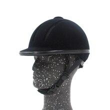 Professional Horse Reiten Helm Einstellbarer Größe Halbe Gesicht Abdeckung Schutzhülle Kopfbedeckungen Sichere Ausrüstung für Questrian Fahrer