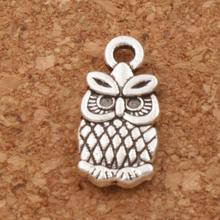Lucky Owl Spacer Charm Beads 7x15mm 56pcs Antique Silver Pendants Alloy Handmade Jewelry DIY L987