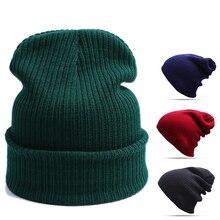 Вязанная шапку теплую skullies шапочки шапочка шапка зимняя унисекс теплая женский