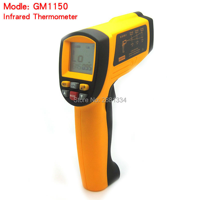 2017 Hot sale GM1150 Non-Contact Laser LCD Display Digital IR Infrared Thermometer Temperature Meter Gun Point -50~1150 Degree multi purpose dual laser lcd display ir infrared thermometer 50 to 1050 degree celsius temperature meter sensor ht 819 page 2
