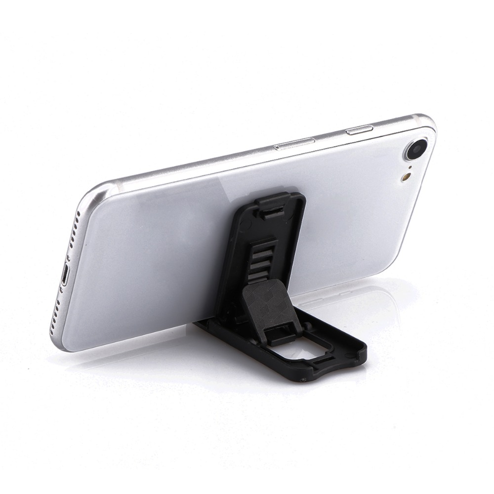 Black Plastic Phone Holder Stand Foldable Desk Stand Holder 4 Degrees Adjustable Universal For IPhone For Xiaomi Phone