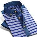 CAIZIYIJIA Лето Мужчины 100% хлопок Плед Короткий Рукав Рубашки Случайным MCZ9500-81 S-4XL