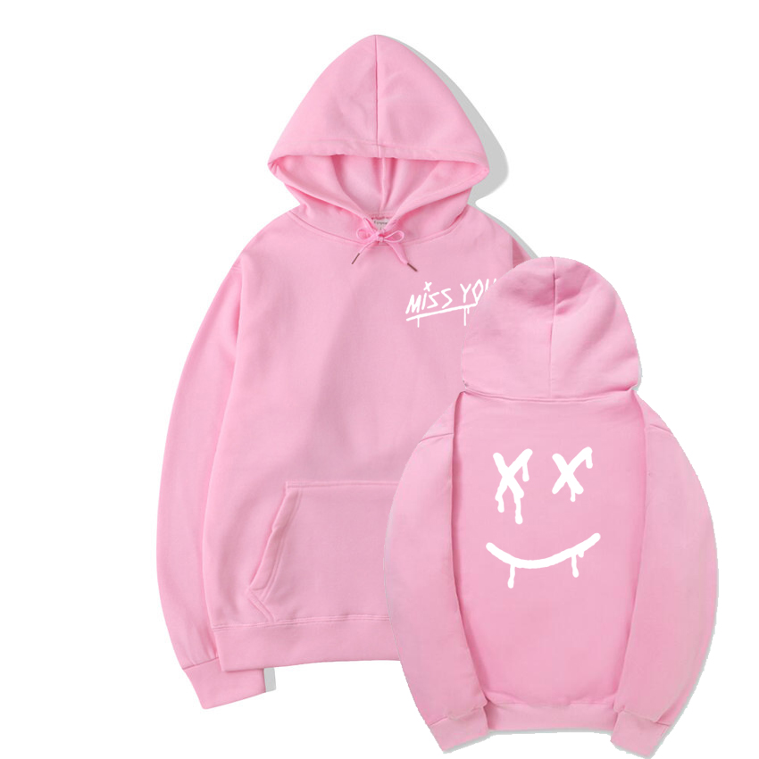 Louis Tomlinson Miss You Smiley Face Hoodie Sweatshirt With A Hood Men Women Hip Hop Hipster Pullover Fleece Hoody Coats Sudader