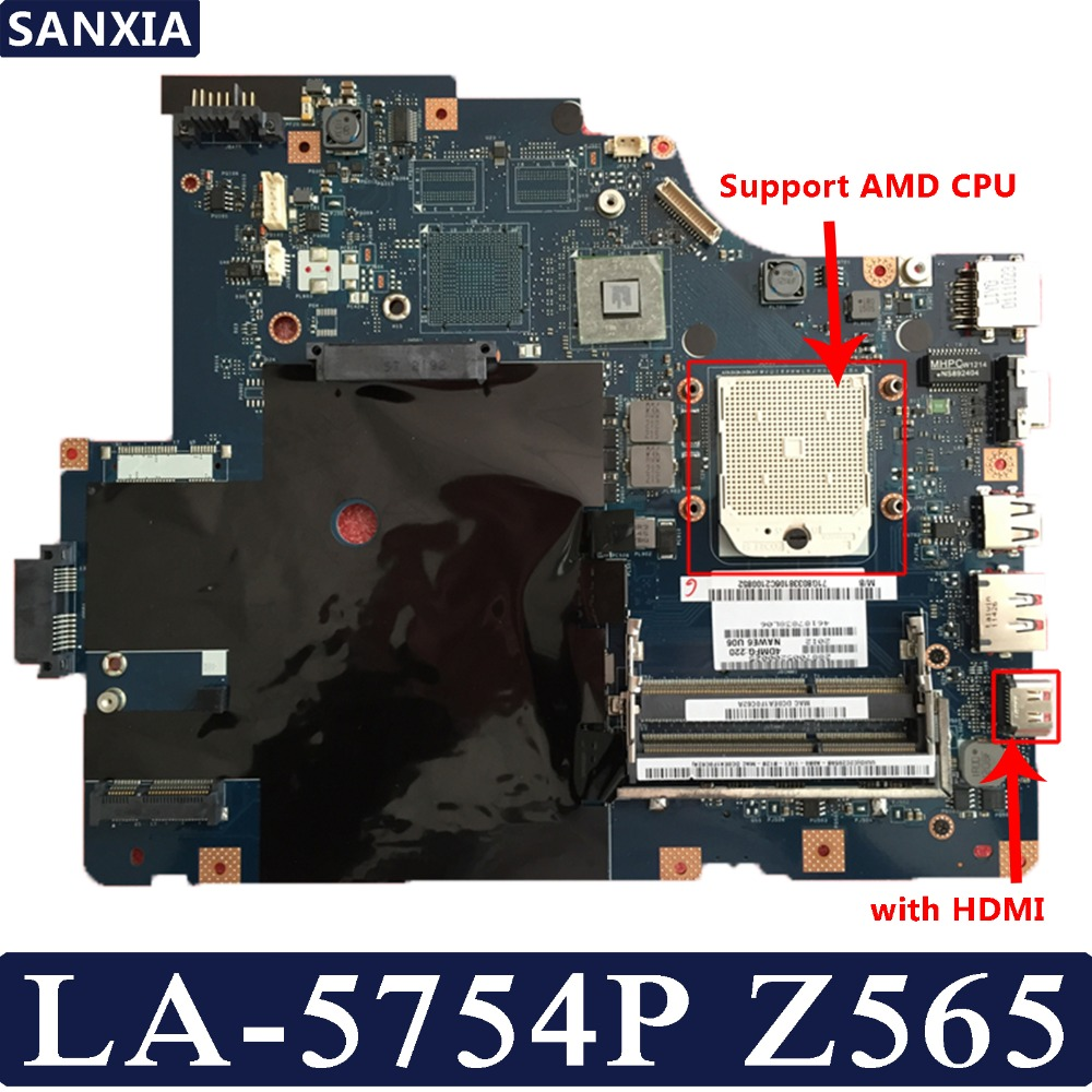 KEFU NAWE6 LA 5754P Laptop motherboard for Lenovo Z565 G565 Test original mainboard with HDMI