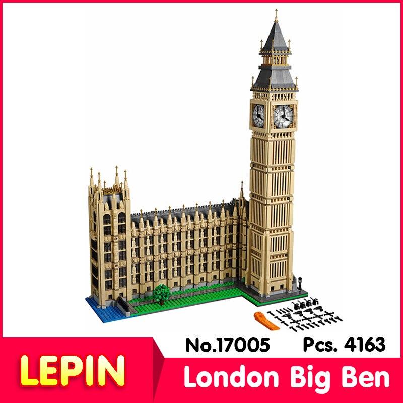 ФОТО LEPIN 17005 4163pcs Street View Series London Big Ben Model Building Kit  Blocks Bricks Toys    10253