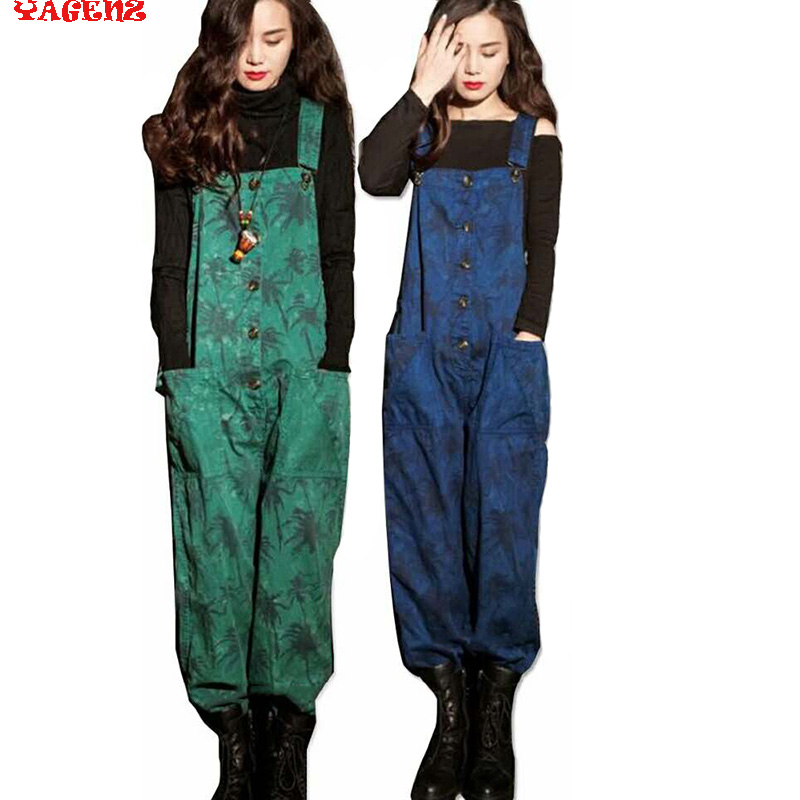 Women Casual Autumn Jeans 2017 New Fashion Autumn Long Print Denim Jeans Pants Womens Overalls Casual Spring Jeans