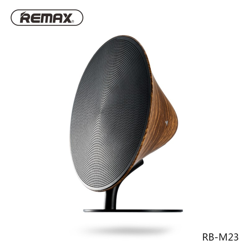 REMAX Bluetooth 4.2 Speaker Surround Sound Effect Audio Port NFC Aluminum Alloy Desktop Speaker Hands free Calls Loudspeaker