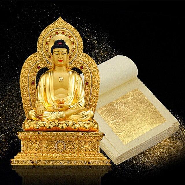 Aliexpress Buy 100 Sheets Gold Silver Copper Leaf Foil Paper
