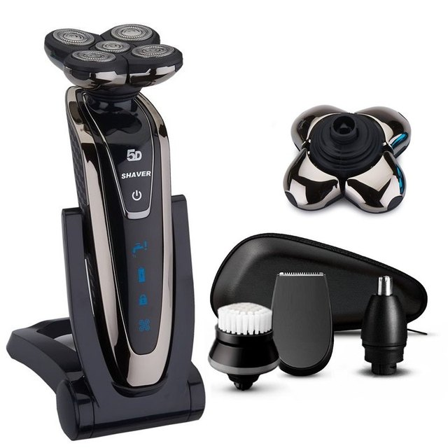 Cordless 5 Head Shaver Waterproof Electric Shaver Beard Wet Dry