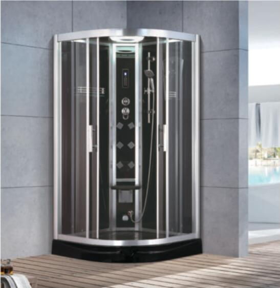 900x900x2150mm Sector-shaped Bathroom Steam Shower Enclosure Computer Control Wet Sauna Room 7070a Vivid And Great In Style