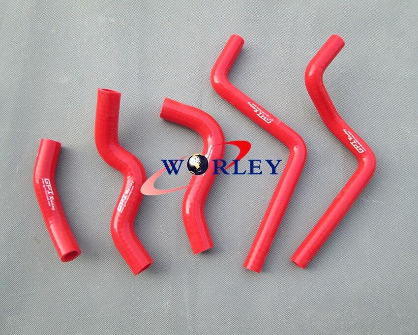 Silicone Radiator Coolant Hose for HONDA CR125R 2001 2002 Red 01 02