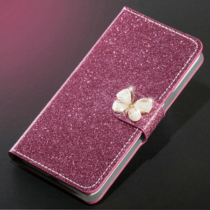 Image 3 - Voor Xiaomi Redmi 4A 5A 6A 7 Note 7 Pro Redmi 4 Note 4 Hoogwaardige Cover Soft Silicone Back cover Leather Flip Glitter Telefoon Gevallen