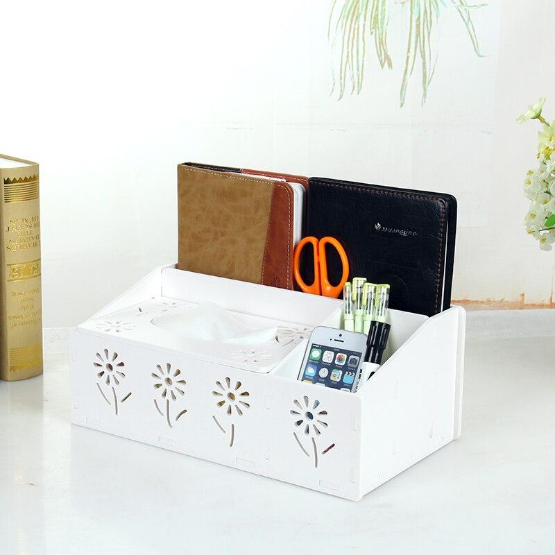 Kotak Penyimpanan Desktop Fesyen Pelbagai fungsi Pemampatan Kotak Peti Alat Kawalan Jauh Pemegang Peti Tisu