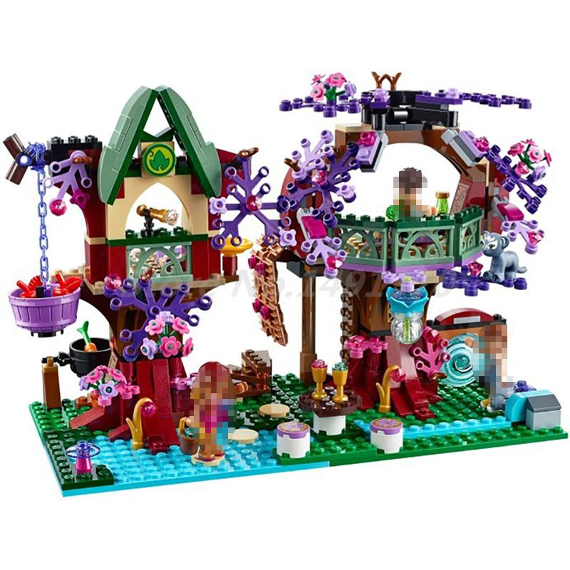 BELA 10414 Elves The Elves' Treetop Hideaway 41075 Building Block Model Sets Bricks Collection DIY Toys For Girls Gifts