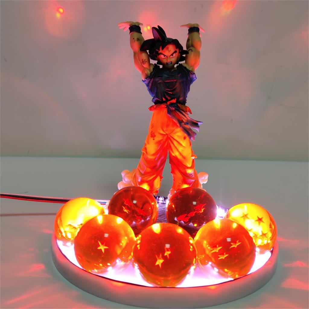 Dragon Ball Z Son Goku Genki DamaSpirit bombe Led 3D veilleuse ampoule Dragon Ball Super Goku esprit bombe Led Table Decora lampe