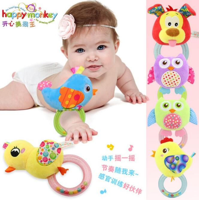 The Cheapest Price Hot Sale Baby Toys Cartoon Bell Ring Dog Soft Animals Rattles Mobiles Toys Baby Appease Toys For Kids Under 3 Years Online Discount Baby & Toddler Toys