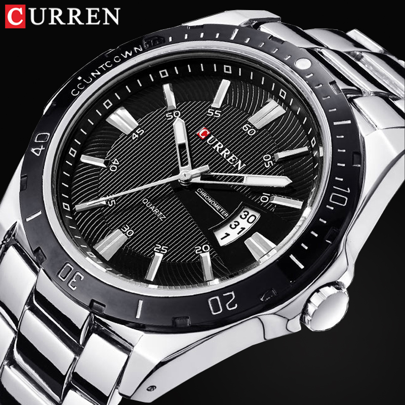 Top Luxury Brand CURREN Men Fashion Casual Business Watches Men's Quartz Clock Male stainless steel Strap Wrist Watch Relogio все цены