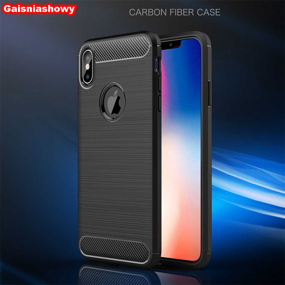 Case For iPhone 6 6s 7 8 Plus 11 Pro Carbon Fiber TPU Case For iPhone X XS XR MAX 5 5s SE Silicone Phone Case Cover Shell Capa